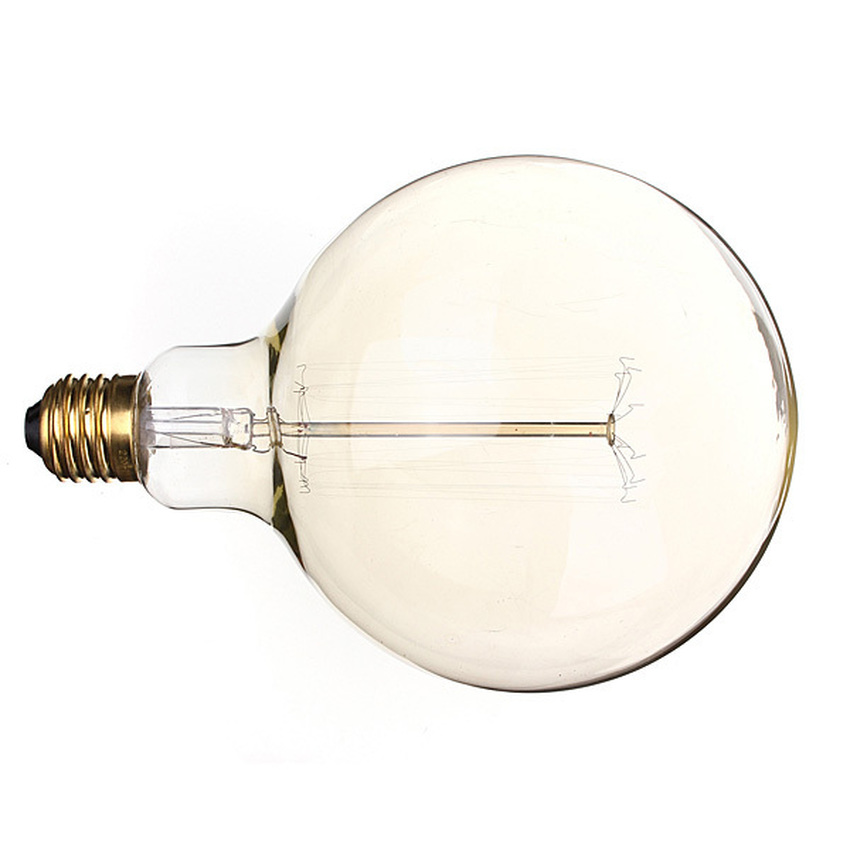 6PCS E27 G125 220V 60W Vintage Antique Incandescent Glass Light Home Decoration Lamp Bulb (Intl)