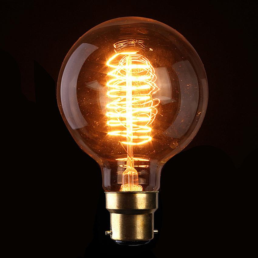 110V 40W Vintage Antique Edison Style Carbon Filamnet Clear G95-B22 Glass Bulb (Intl)
