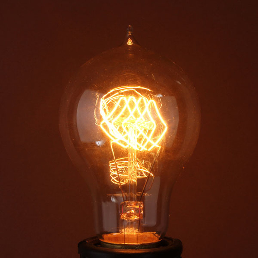4PCS 220V 60W Vintage Antique Edison Style Carbon Filamnet Clear Glass Bulb A19 B22 (Intl)