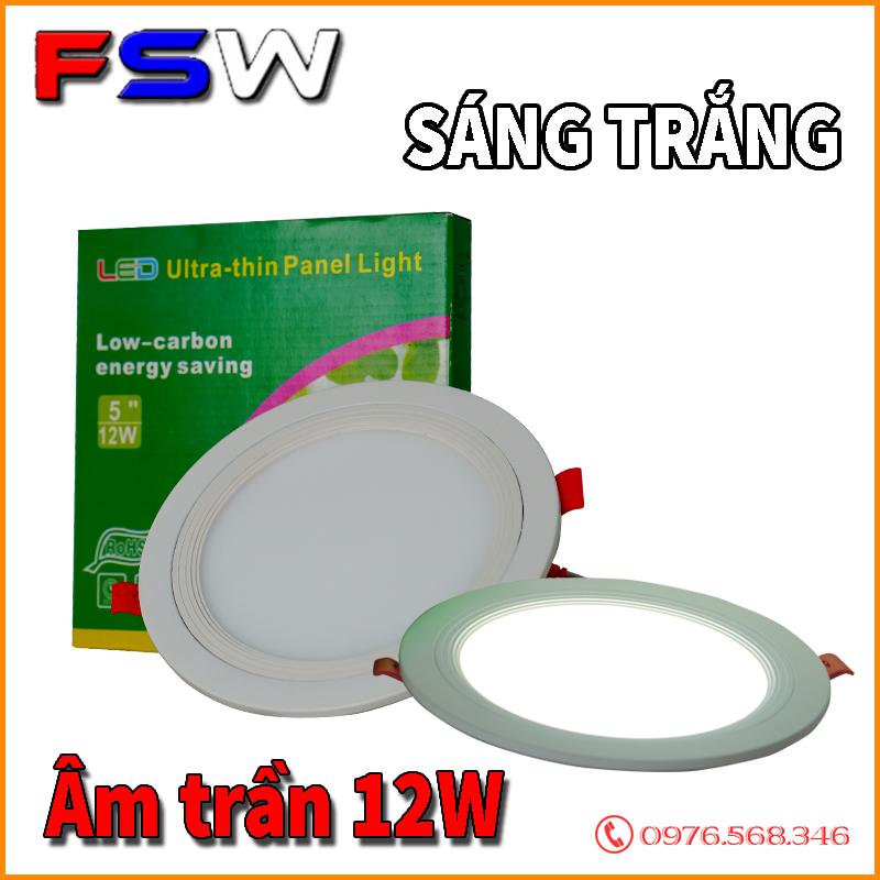 Đèn âm trần 12W sáng trắng| đèn led tiết kiệm điện