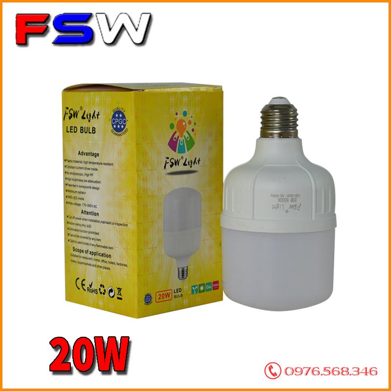 Đèn bóng bulb FSW 20W siêu tiết kiệm