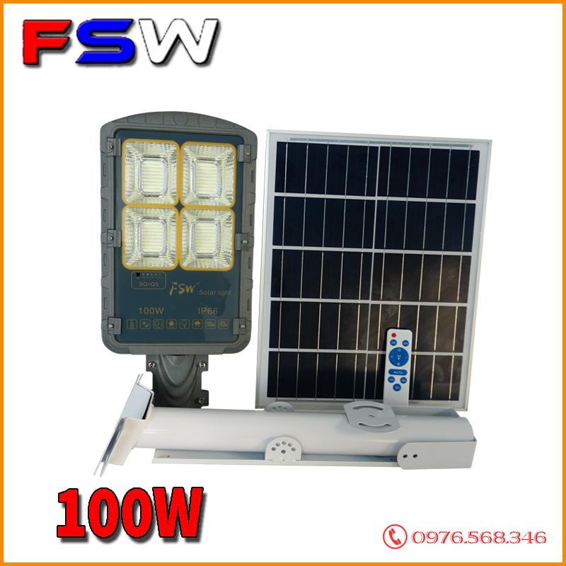 Đèn đường FSW 100W siêu sáng  năng lượng mặt trời