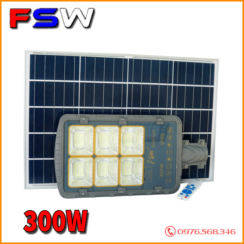 Đèn đường FSW 300W  năng lượng mặt trời cao cấp