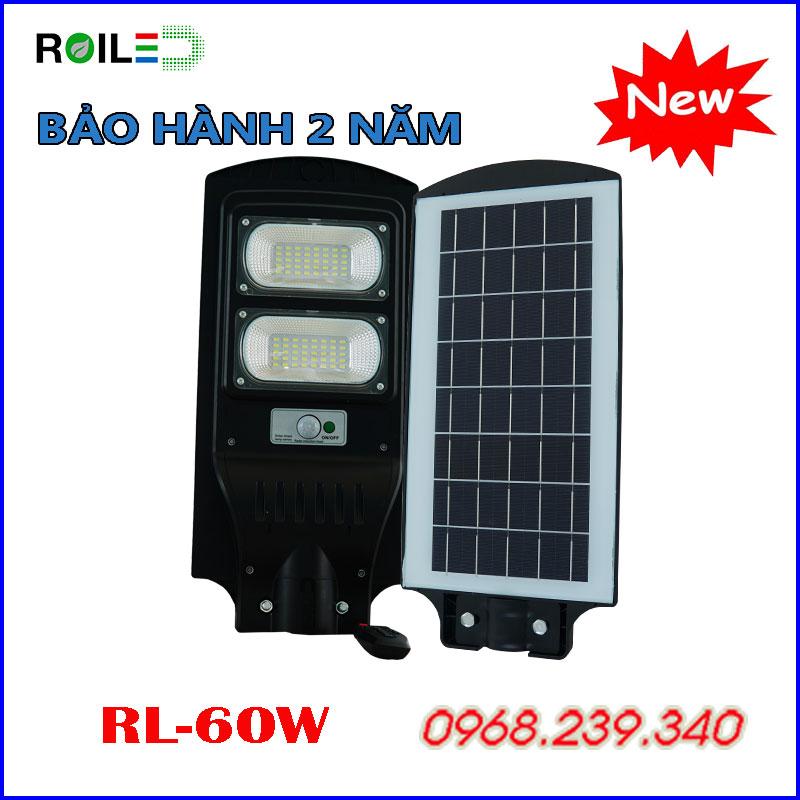 Đèn Đường Liền Thể Roiled RL60W  Năng Lượng Mặt Trời
