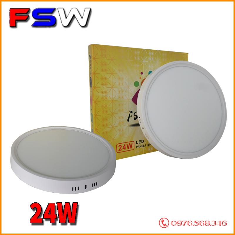 Đèn ốp trần FSW 24W tròn  2 chế độ sáng