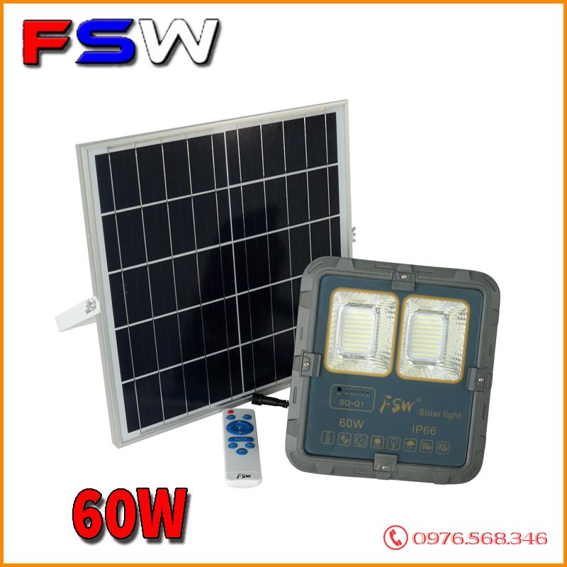 Đèn pha FSW 60W giá tốt| năng lượng mặt trời