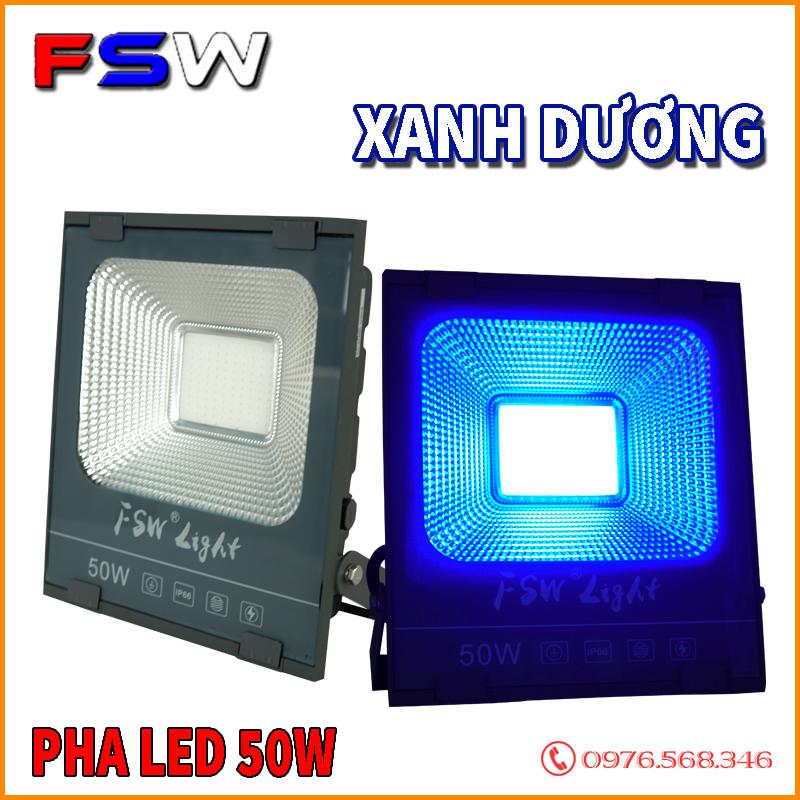 Đèn pha led FSW 50W ánh sáng xanh dương