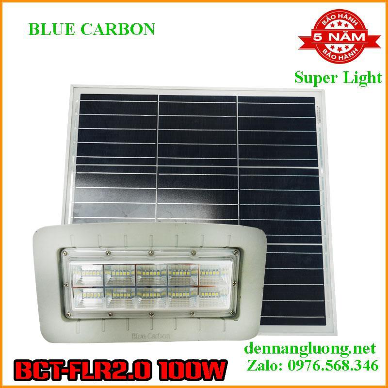 Đèn pha Năng Lượng Mặt trời Blue Carbon BCT-FLR2.0 100W bảo hành 5 năm