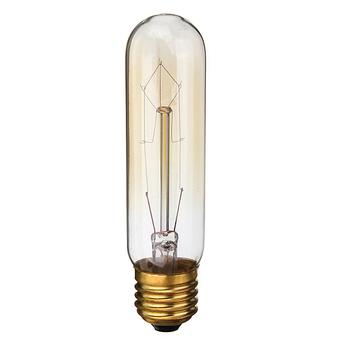 2PCS 220V 60W Vintage Antique Edison Style Carbon Filamnet Clear Glass Bulb T10-E27 (Intl)