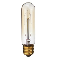 220V 60W Vintage Antique Edison Style Carbon Filamnet Clear Glass Bulb T10-E27 (Intl)