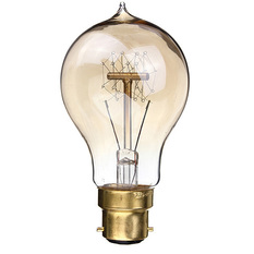 2PCS 220V 40W A19-B22 Vintage Antique Edison Style Carbon Filamnet Clear Glass Bulb (Intl)