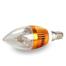 3W E14 3 SMD LED Energy Saving Candle Chandelier Lamp Light Bulb Warm White (Intl)
