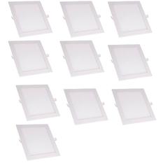 Bộ 10 đèn Led Downlight âm trần siêu mỏng vuông 18W Led Panel Light DV18T (Ánh sáng trắng)