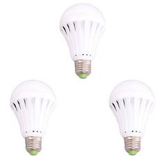 Bộ 3 bóng đèn LED tích điện thông minh 7W (Trắng)
