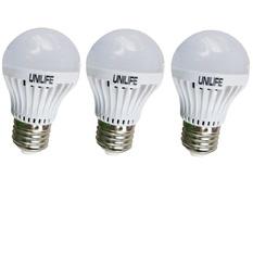 Bộ 3 Bóng đèn Unilife LED A50/3W (Trắng)