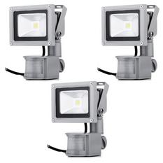 Bộ 3 đèn pha LED cảm ứng chống trộm Rinos RNPA610 -10w