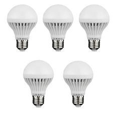 Bộ 5 bóng đèn LED búp Tomhouse 9W (Ánh sáng trắng)