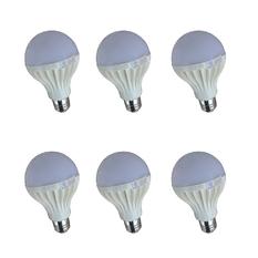 Bộ 6 bóng đèn LED Tuấn Đạt E27 9w (Ánh sáng trắng)