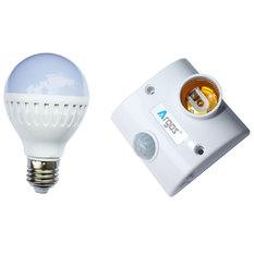 Bộ đuôi đèn cảm biến chuyển động và bóng led bub 7W ánh sáng trắng TR02-PR (Trắng)