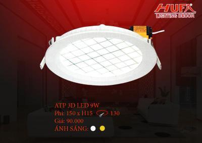 Đèn âm trần  ATP 3D led 9W
