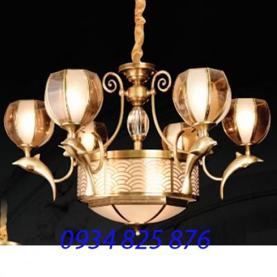Đèn Chùm Đồng Đá HF891-6