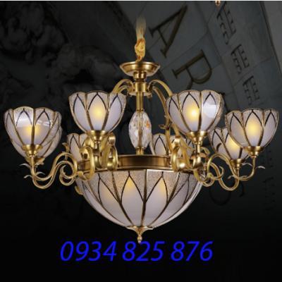 Đèn Chùm Đồng Đá HF9001-8