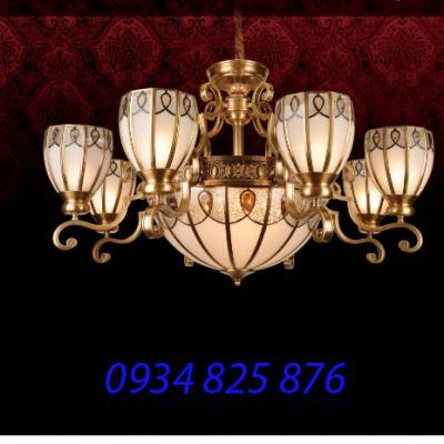 Đèn Chùm Đồng Đá HF9008-8
