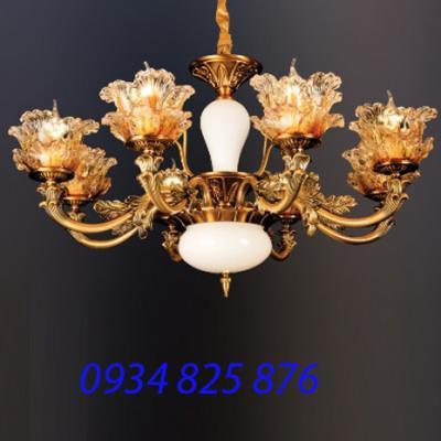 Đèn Chùm Hợp Kim Pha Lê-HL8017-8