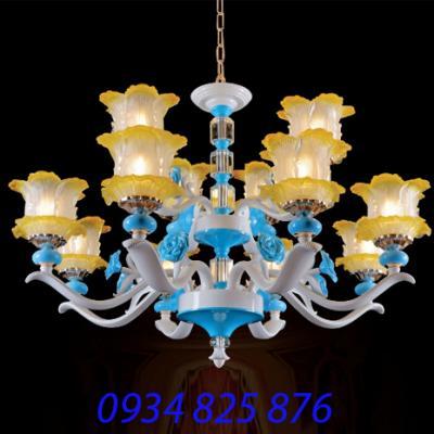 Đèn Chùm Hợp Kim Pha Lê-HL8082-12