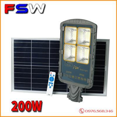 Đèn đường FSW 200W chính hãng| năng lượng mặt trời