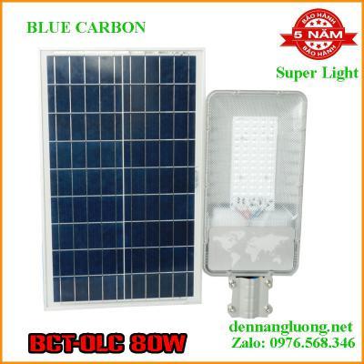 Đèn Đường Năng Lượng Mặt Trời Blue Carbon BCT-OLC 80W Bảo Hành 5 Năm