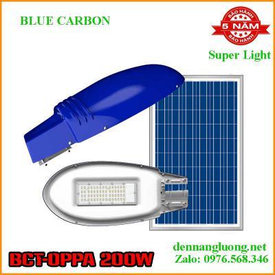Đèn Đường Năng Lượng Mặt Trời Blue Carbon BCT- OPPA 200W Bảo Hành 5 Năm