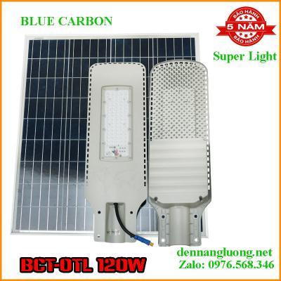 Đèn Đường Năng Lượng Mặt Trời Blue Carbon BCT-OTL 120W Bảo Hành 5 Năm
