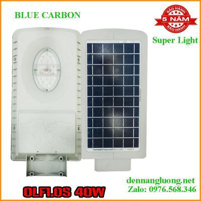 Đèn Đường Năng Lượng Mặt Trời Blue Carbon OLF1.0S 15W Pin liên thể cao cấp bảo hành 5 năm