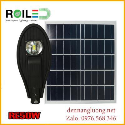 Đèn đường Roiled RE50W năng lượng mặt trời