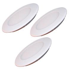 Đèn LED âm trần siêu mỏng tiết kiệm điện bộ 3 cái Gnesco 6W (vàng ấm)