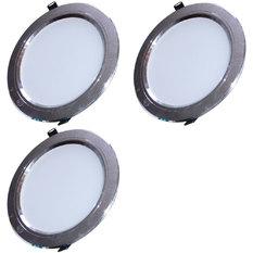 Đèn LED âm trần tán quang tiết kiệm điện 9W bộ 3 cái (vàng ấm)