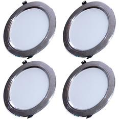 Đèn LED âm trần tán quang tiết kiệm điện bộ 4 cái Gnesco 9W (sáng trắng)