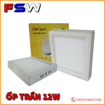 Đèn ốp trần FSW 12W hình vuông