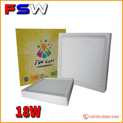 Đèn ốp trần FSW 18W vuông| 2 chế độ