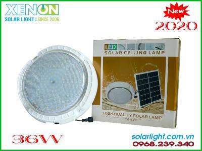 Đèn ốp trâng A36W| hiện đại| năng lượng mặt trời
