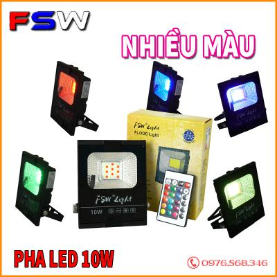 Đèn pha FSW 10W nhiều màu| đèn led trang trí