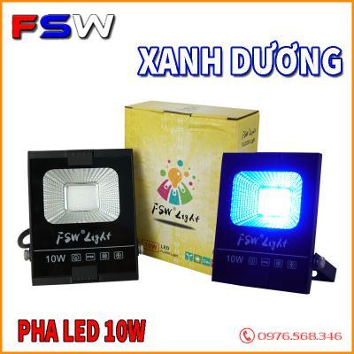 Đèn pha FSW 10W xanh dương| đèn pha COB giá rẻ