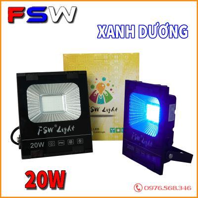 Đèn pha FSW 20W| đèn led ánh sáng xanh dương
