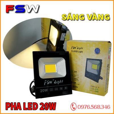 Đèn pha FSW 20W| đèn pha led ánh sáng vàng