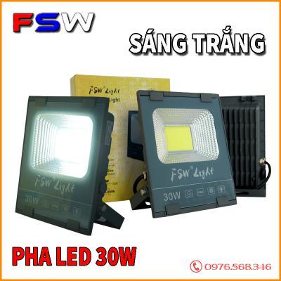 Đèn pha FSW 30W| đèn chip COB| ánh sáng trắng