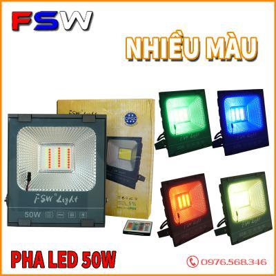 Đèn pha FSW 50W| đèn led nhiều màu sáng