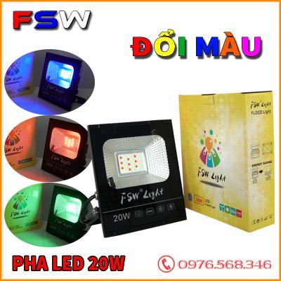 Đèn pha led FSW 20W| đèn trang trí nhiều màu