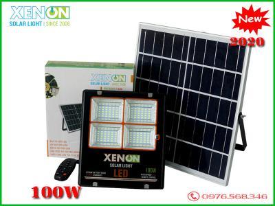 Đèn pha Xenon CX 100W| năng lượng mặt trời | viền cam