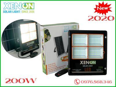 Đèn pha Xenon CX200W| năng lượng mặt trời| viền cam